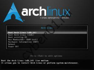 01_Select_Arch_linux_x86_64